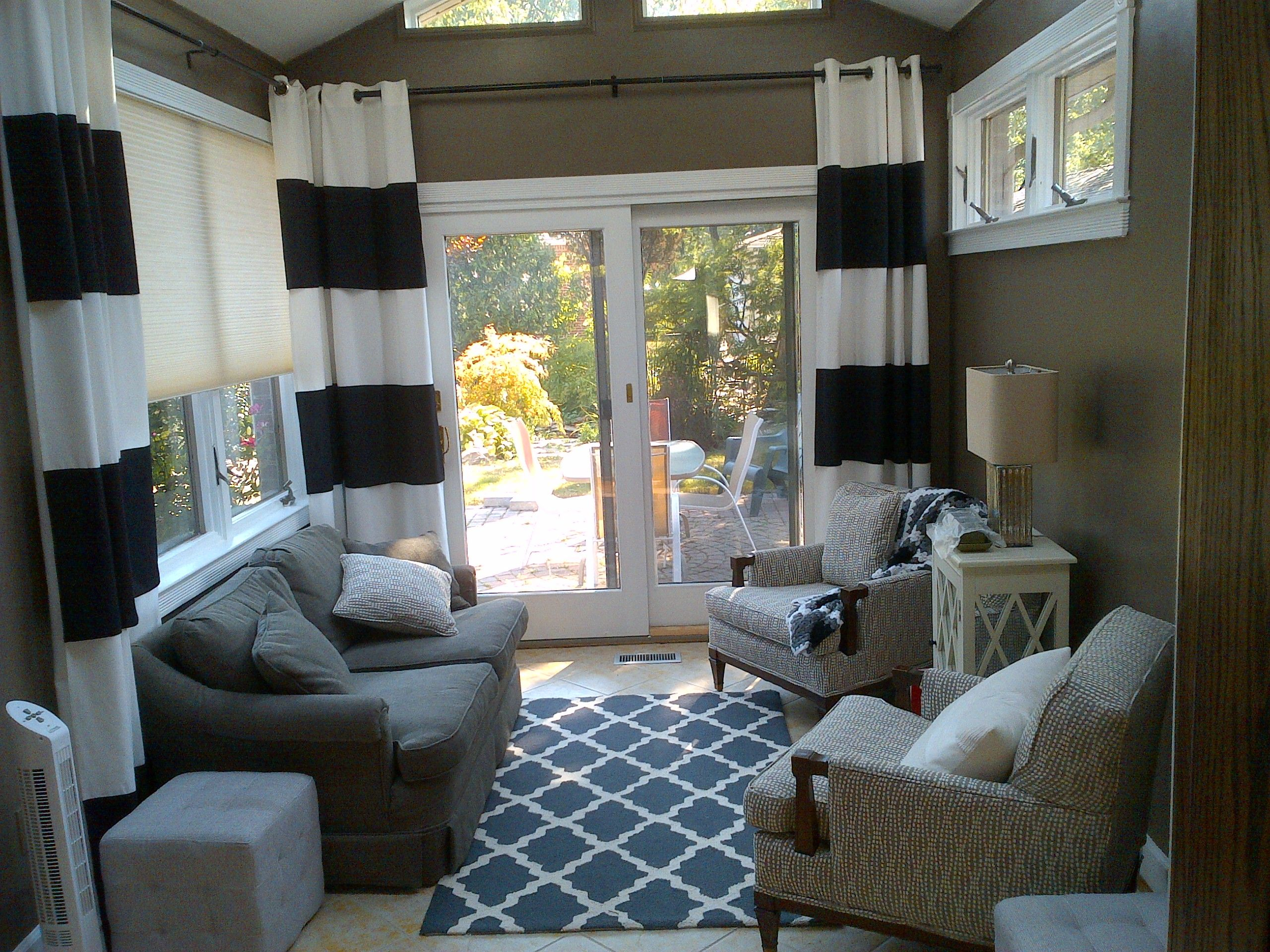 sunroomcurtain ideas  Sunroom furniture, Sunroom decorating