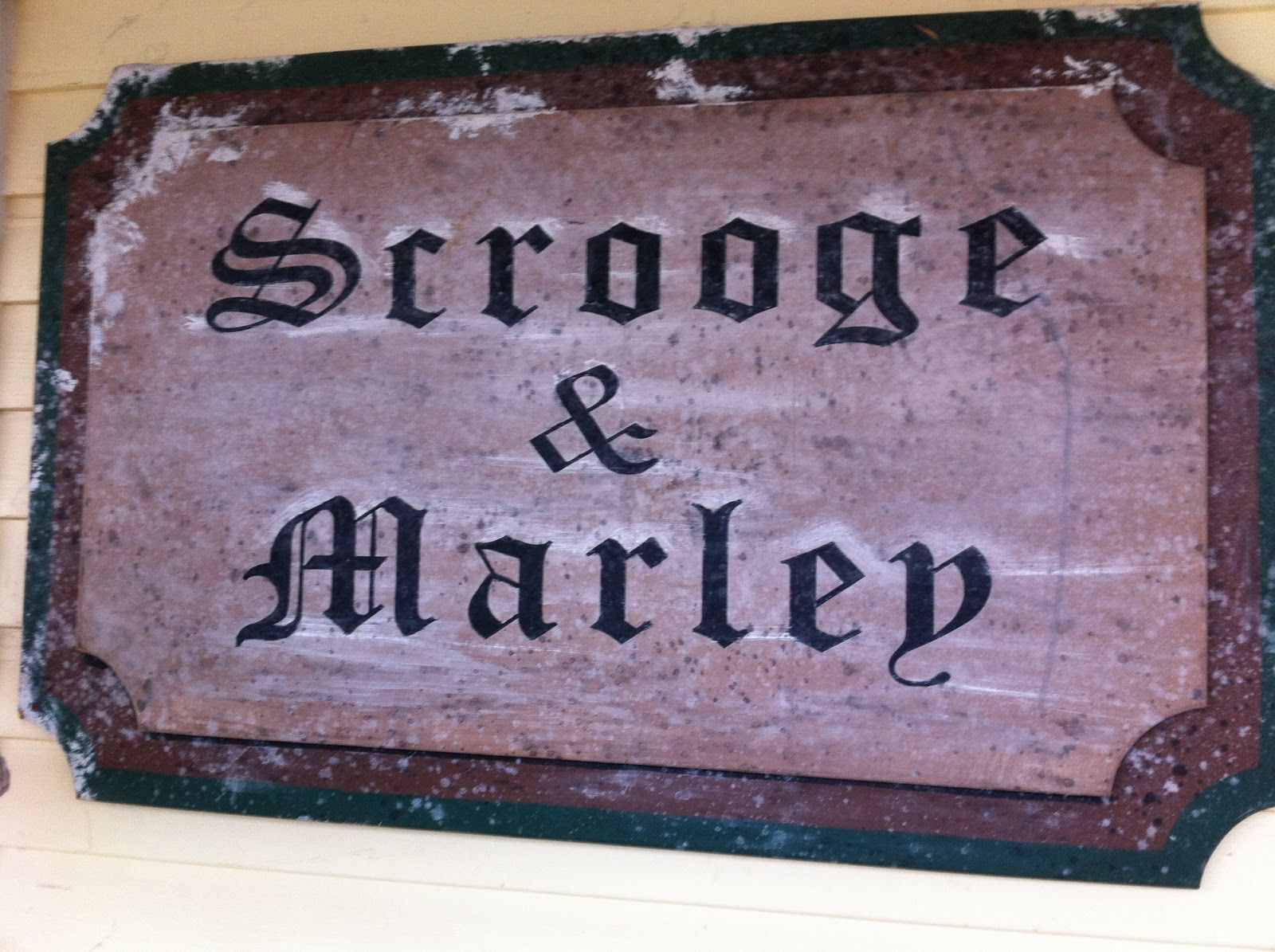 Scrooge And Marley Sign Google Search Christmas Carol
