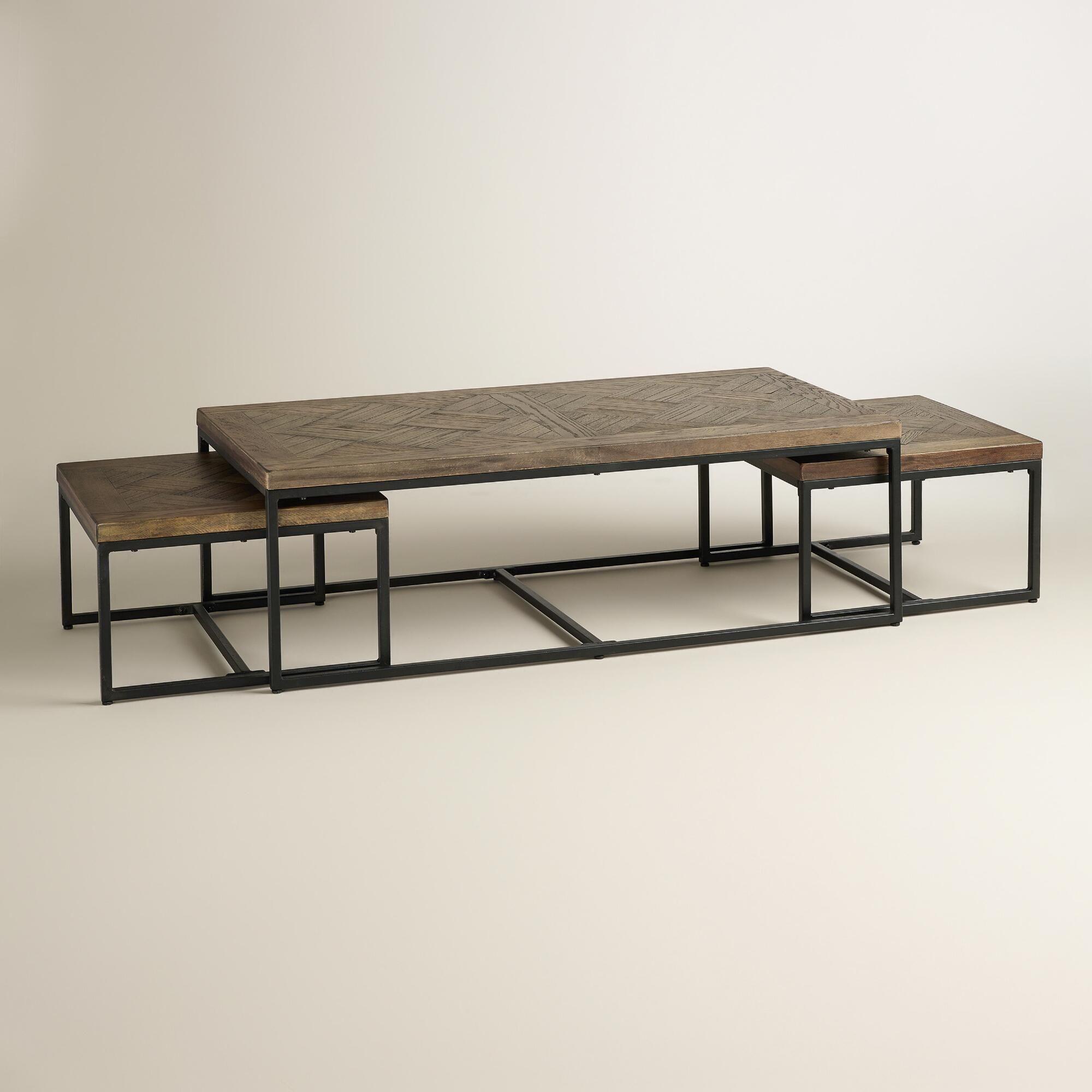 Parquet Gelder Nesting Coffee Tables Set of 3
