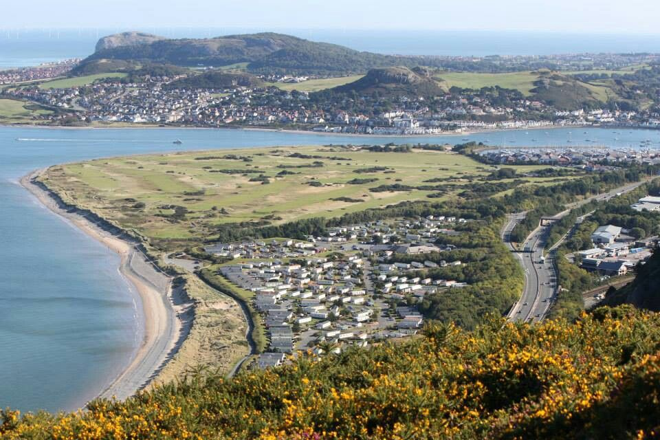 Aberconwy peninsula from the hill.