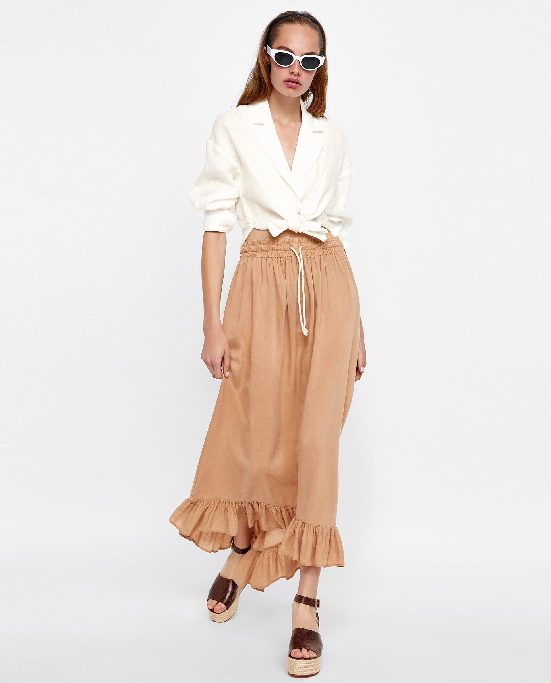 47fc853bf FALDA LARGA VOLANTE in 2019 | Wishlist - ZARA | Skirts, Zara skirts ...