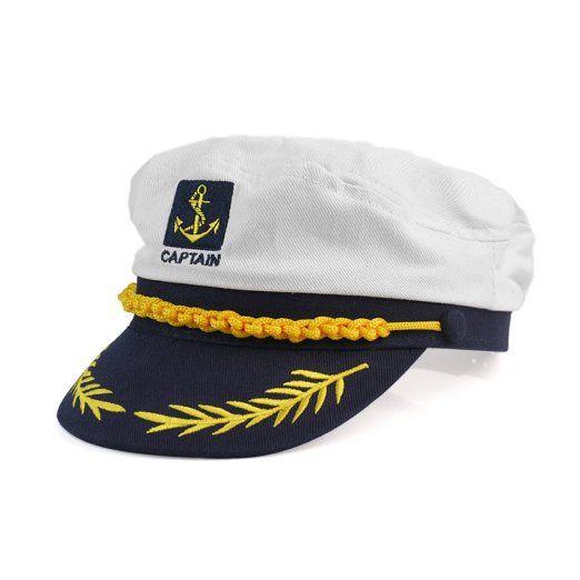 1f43f5cbc9151 Amazon.com  White Yacht Captain Skipper Sailor Boat Marine Cotton Cap Hat  Costume Party New  Health   Personal Care