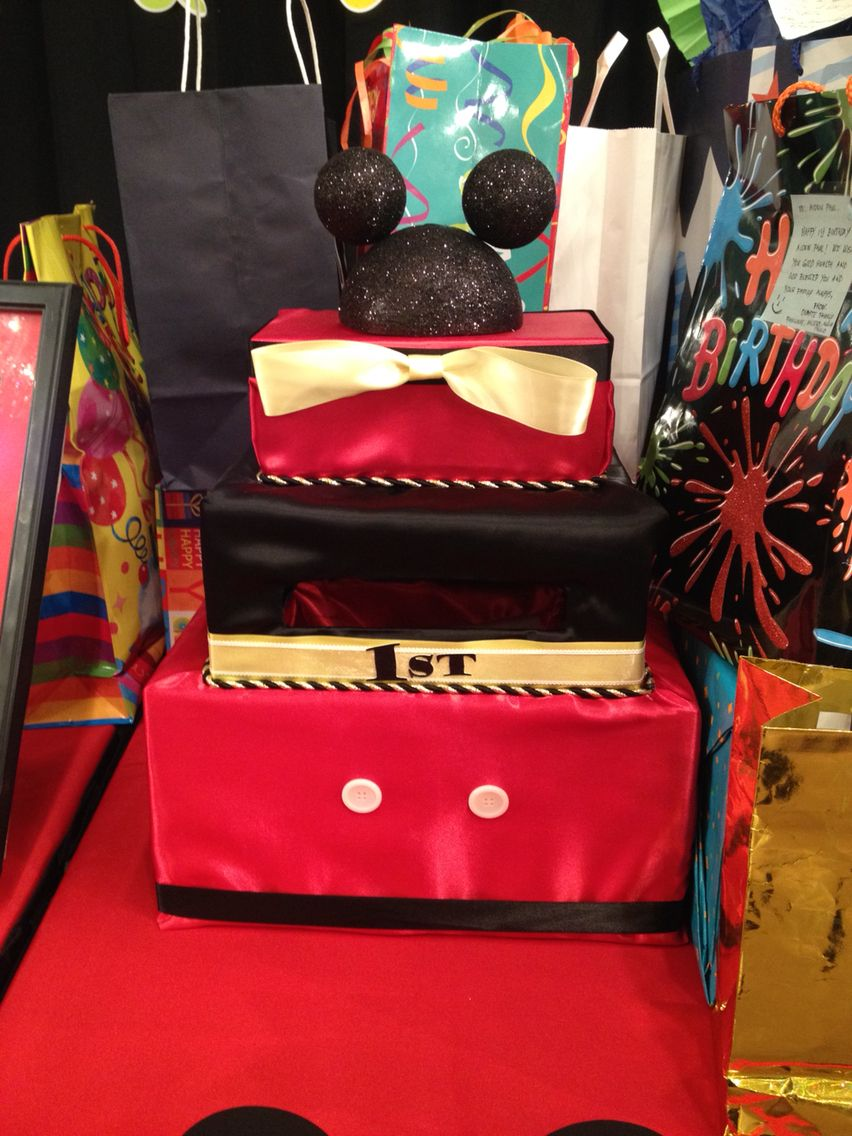 Another mickey mouse gift card box for 1st birthday party