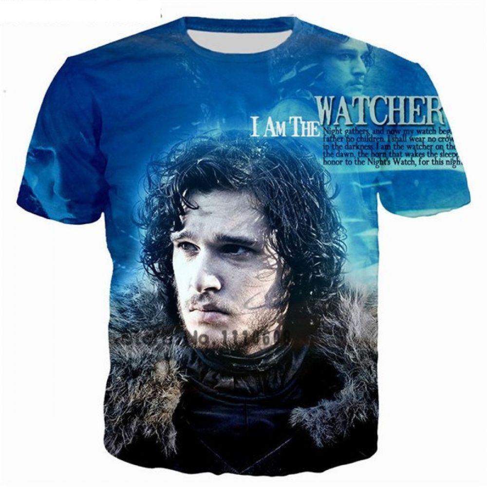 19e56ea72086 3D Printed Unisex T-Shirt Casual Tees Cool - John Snow Only US  19.72