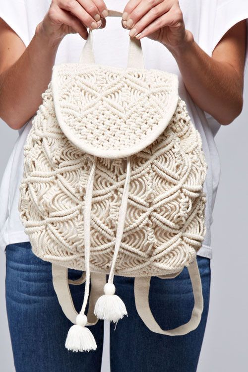 Crochet Mini Backpack | knitting | Crochet, Macrame, Crochet backpack