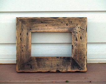 sale rustic picture frame wall frame photo frame reclaimed wood frame distressed wood cabin frame eco friendly rustic decor