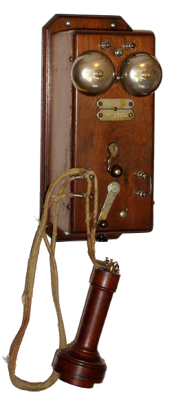 Antique telephone hook up
