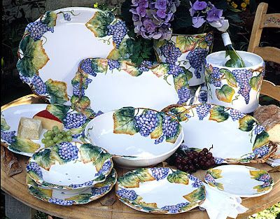 Intrada Italy Chianti - Dinnerware with a grape pattern & Intrada Italy Chianti - Dinnerware with a grape pattern | Intrada ...