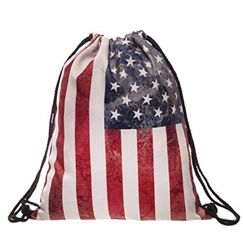 Egmy Hot 2016 Fashion Women Men American Flag Printed Drawstring Pouch  Backpack Shoulder Bag Black   Read more at the image link. 3f97fa80e