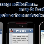 pitboss tripped breaker alarm text message system, cellular circuit