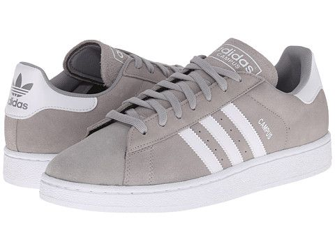 adidas originali campus medio grigio heather / solido grigio / bianco