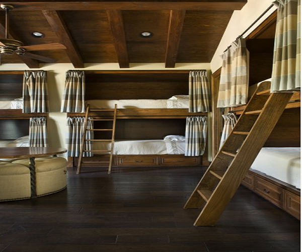 8 bunk beds in a room | Lake House | Bunk rooms, Built in ...