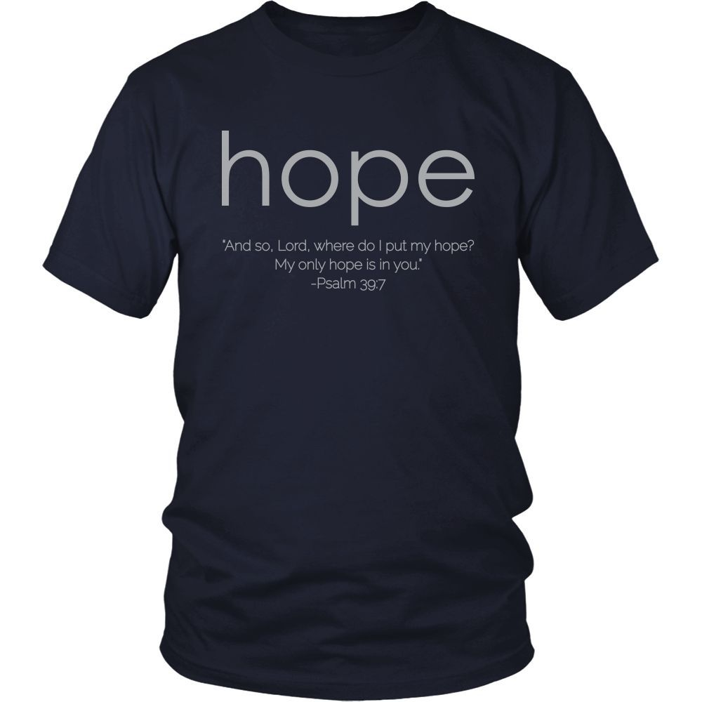 """Hope"" Design-Gray Font"