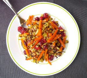 Persian Spiced Wildrice Cranberry Pilaf | thechillychili.com