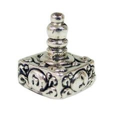 Sterling Silver Hanukkah Dreidel with Floral Ornaments$34  worldofjudaica