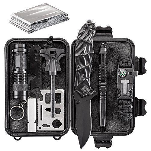 68a71505667 Emergency Survival Kit 10 in 1 - Outdoor Survival Gear - Folding Knife