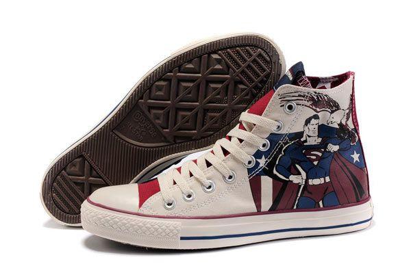 c5a26831da7c Superman Chucks (much better than the DC Comics shoes available from  converse.com and journeys.com).  converse  chucktaylor  hightops  geek   superhero