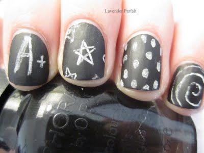 Chalkboard nails.