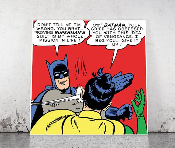 Batman Slapping Robin Blank Template Imgflip