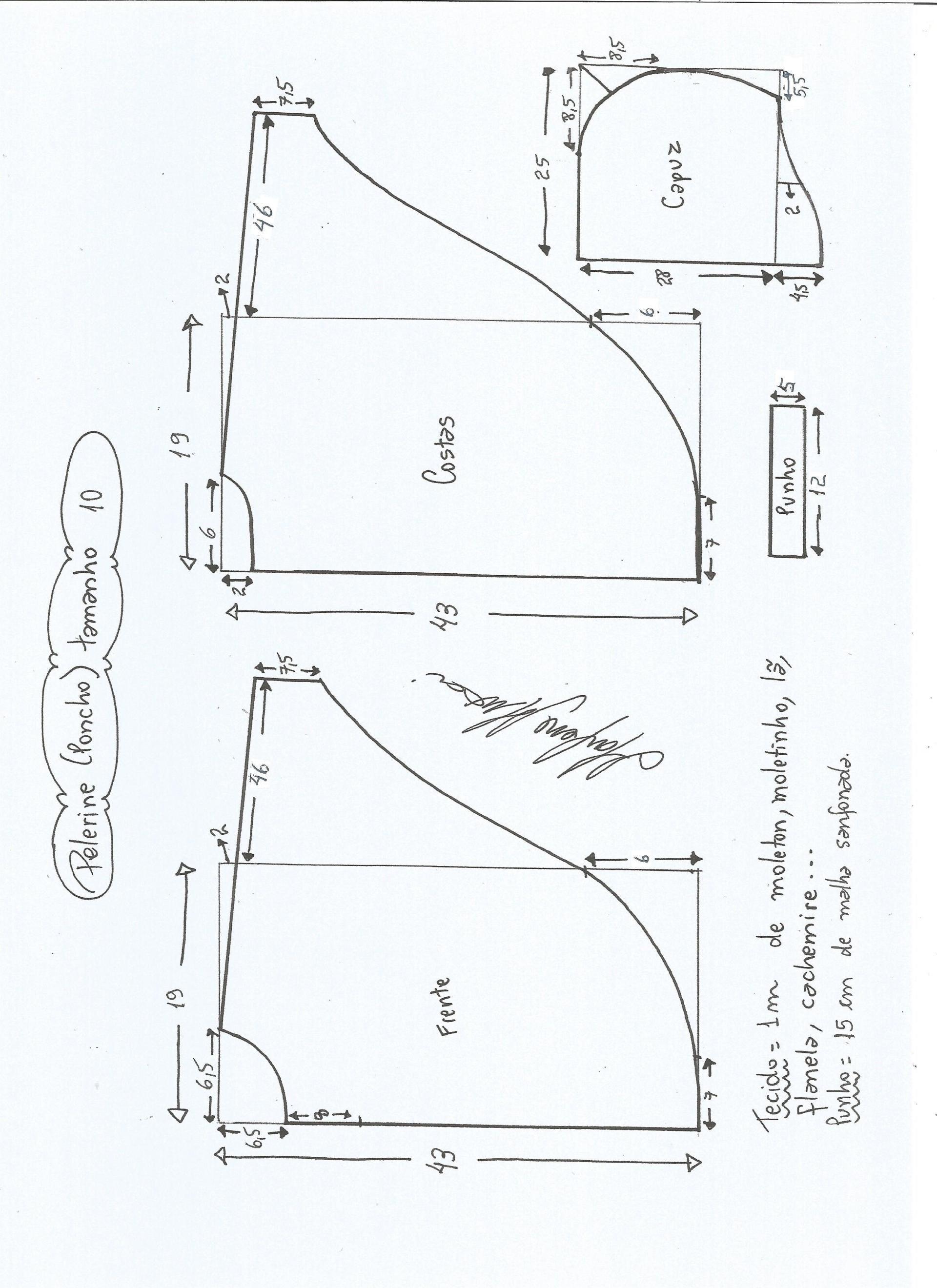 Patrón de poncho para niños   Costura   Pinterest   Sewing patterns ...