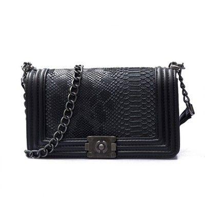 Torebka Chanelka Boy Pikowana Skora Weza Czarna 6192986679 Oficjalne Archiwum Allegro Crossbody Bag Bags Designer Bags