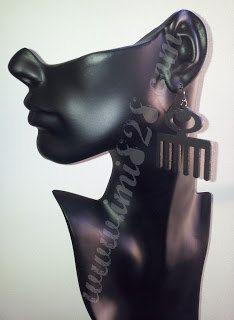 Duafe wood earrings