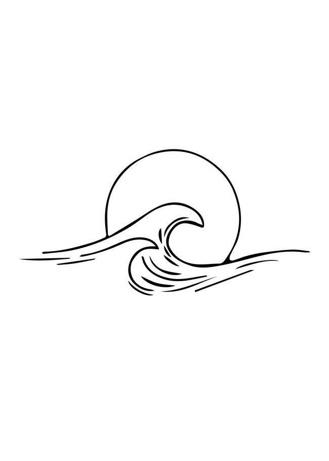 Waves Minimal art Art Print by draw4you
