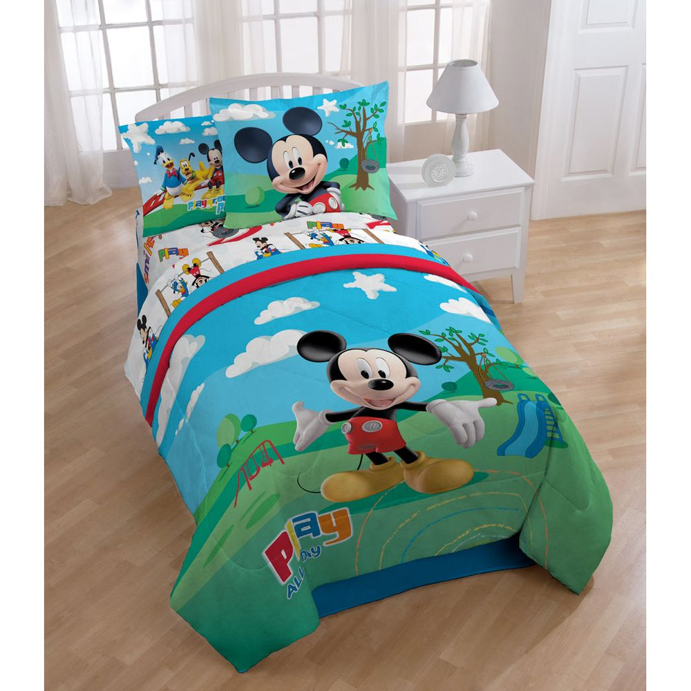 Overstock Bedroom Furniture Sets Mickey Mouse Clubhouse 8 Piece Bed In A Bag With Sheet Set By