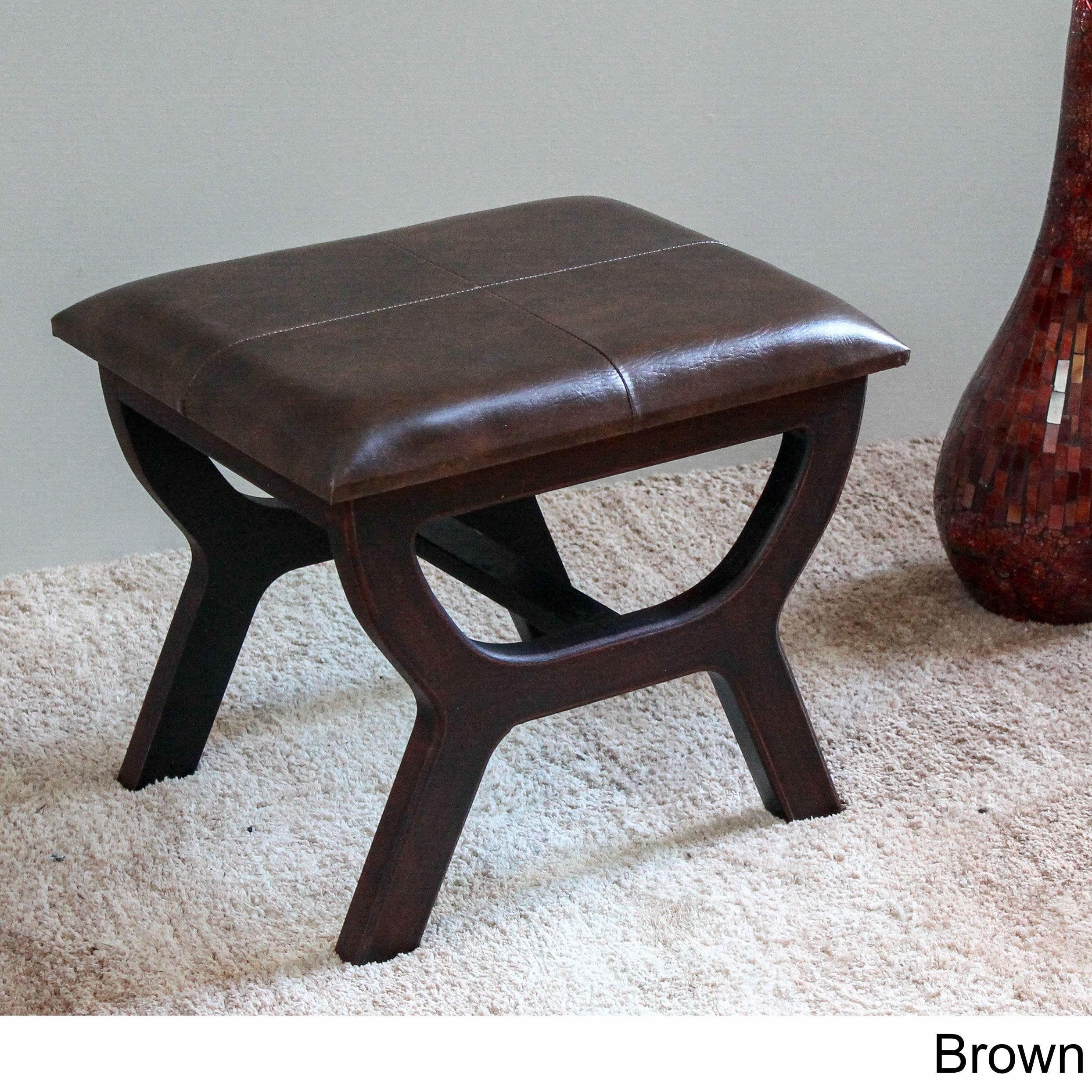 Groovy International Caravan Carmel Rectangular Vanity Stool Brown Alphanode Cool Chair Designs And Ideas Alphanodeonline