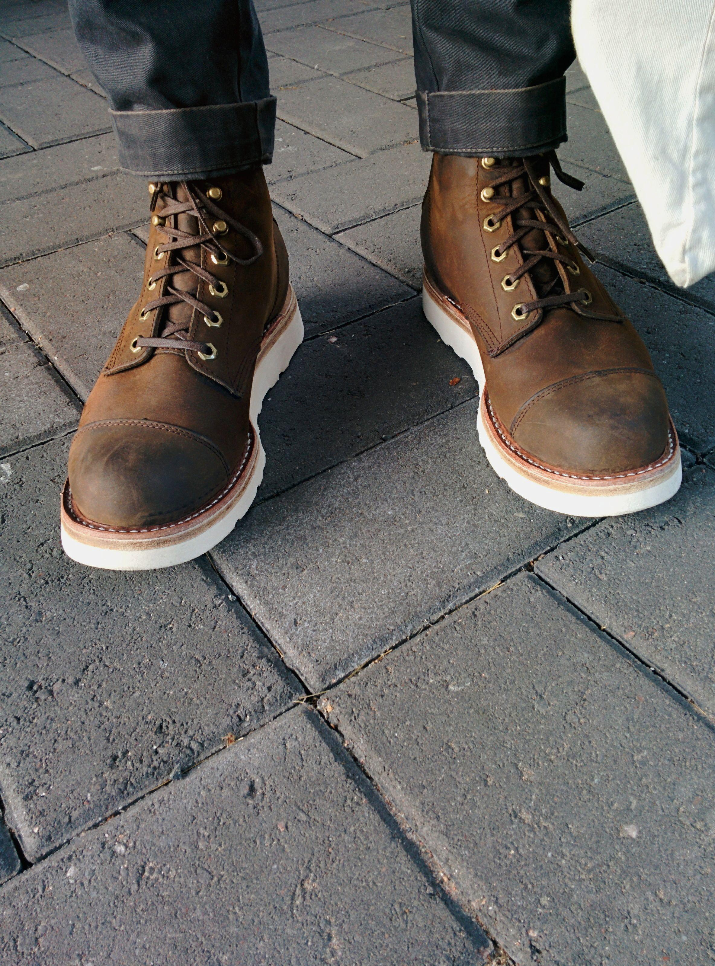 a7afa672b5d My Chippewa x LL Bean Katahdin Iron Works boots resoled with Vibram ...