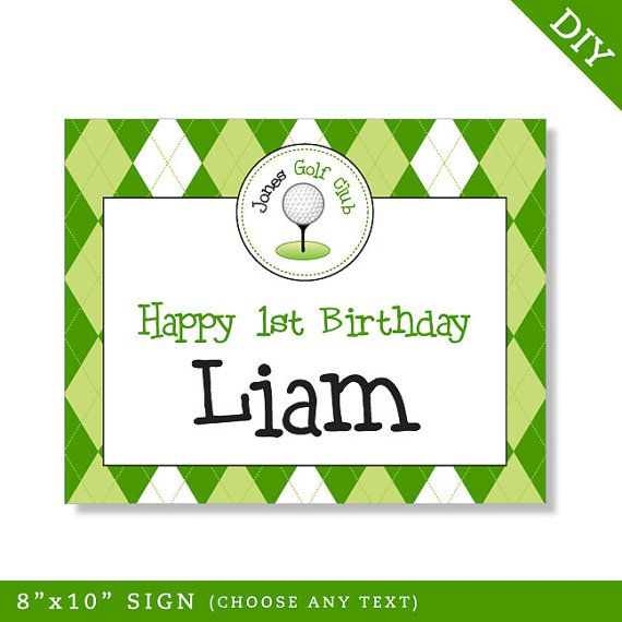 Golf party  Personalized DIY printable sign by Chickabug on Etsy, $8.00
