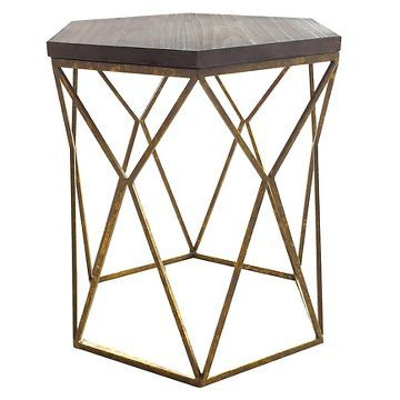 Chester End Table Gold Metal Hexagon Threshold Target Table Cool Style Great Price Geometric Side Table End Tables Metal Accent Table