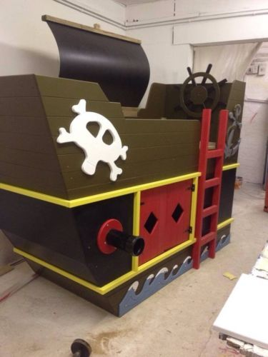 Pirate Ship Bunk Bed Front Ladder W Top Entrance