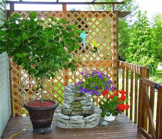 13 Attractive Ways To Create Privacy In Your Yard · Privacy Ideas For Deck Backyard ...