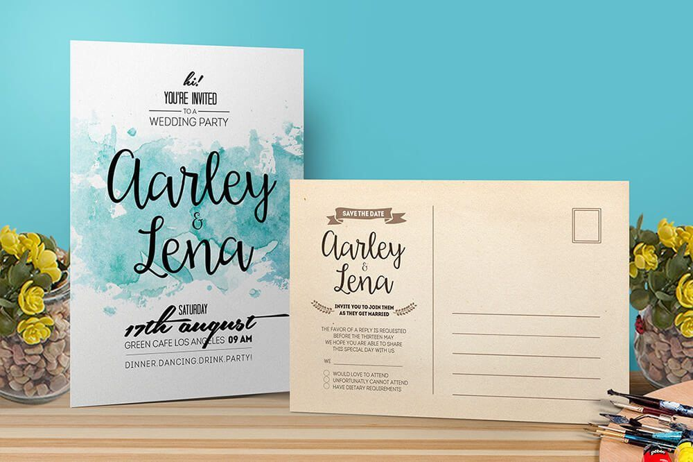 preview Wedding Invitations Examples cards, tags, and gift card - gift voucher examples