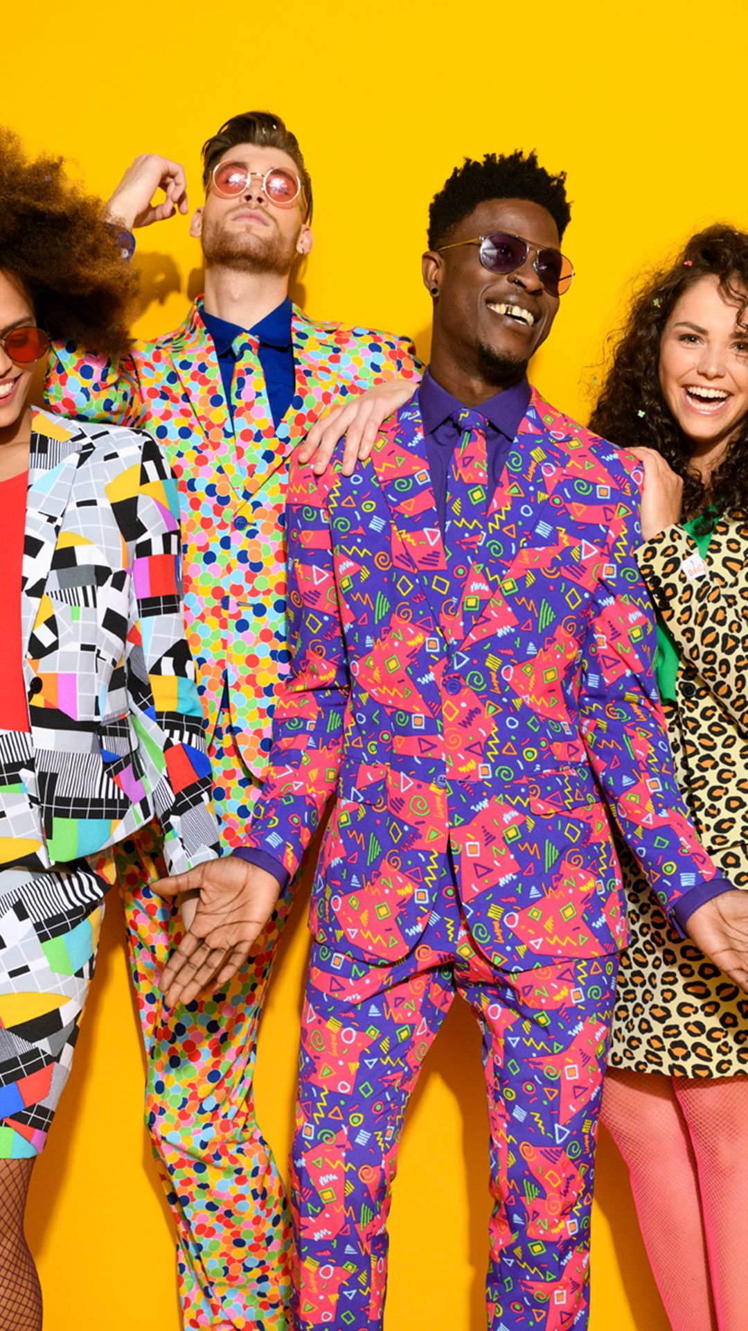 Office Party Ideas With The Suits From Opposuits Psychedelic Fashion Party Outfits For Women Diy Party Costumes