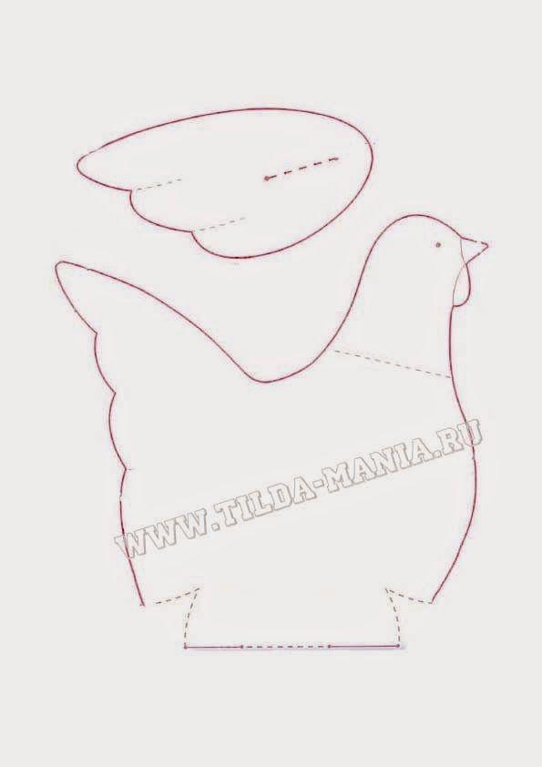 handmade by Irina Polushkina: Пасхальная курочка!+выкройка
