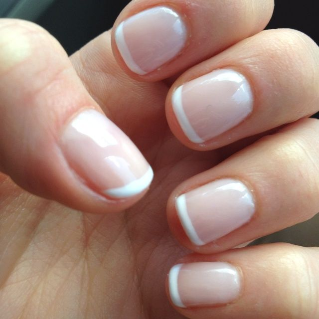 french manicure on real nails nails pinterest. Black Bedroom Furniture Sets. Home Design Ideas
