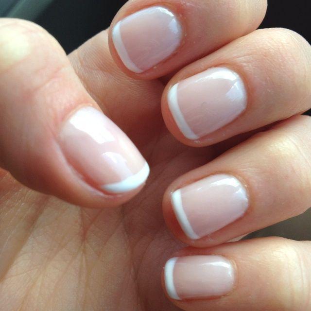 french manicure on real nails nails pinterest nagelschere fingern gel und nagellack. Black Bedroom Furniture Sets. Home Design Ideas