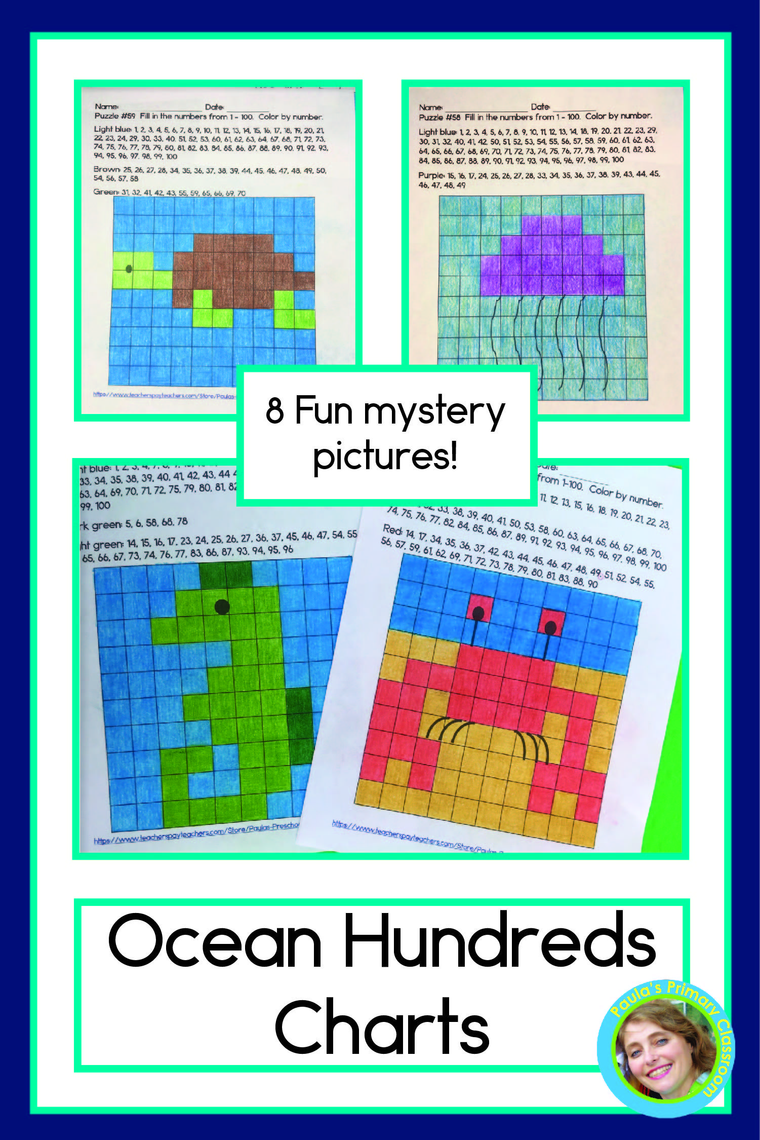 Ocean Hundreds Chart Mystery Pictures In