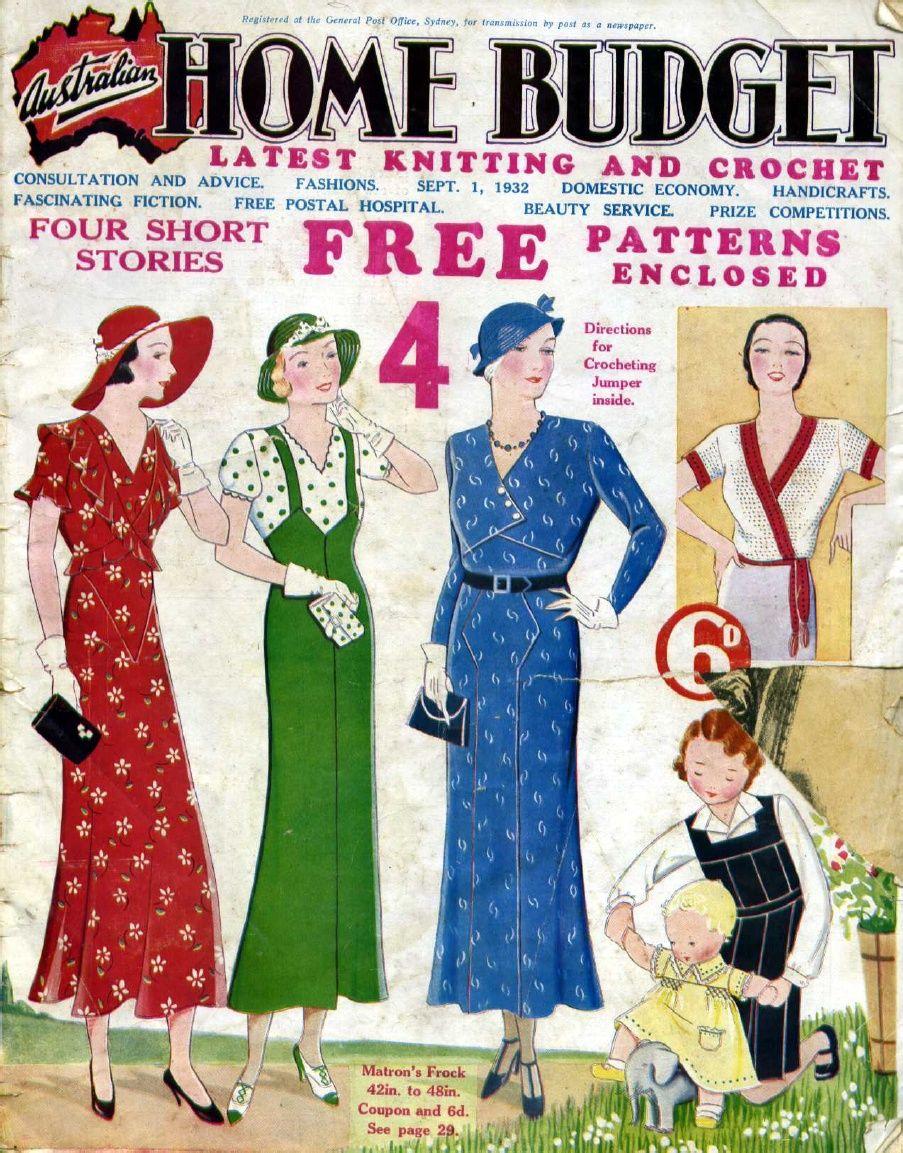 Australian Home Budget magazine 1st September 1932 | Needle & Thread
