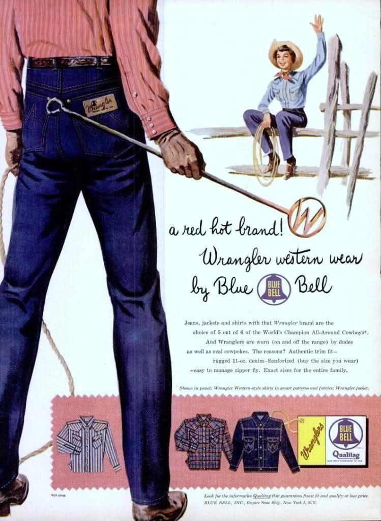 18d25cc9 Wranglers, 1954 | Oh so vintage | Wrangler jeans, Vintage denim, Vintage