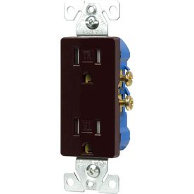 Cooper Wiring Devices 15-Amp Brown Decorator Duplex Electrical ...