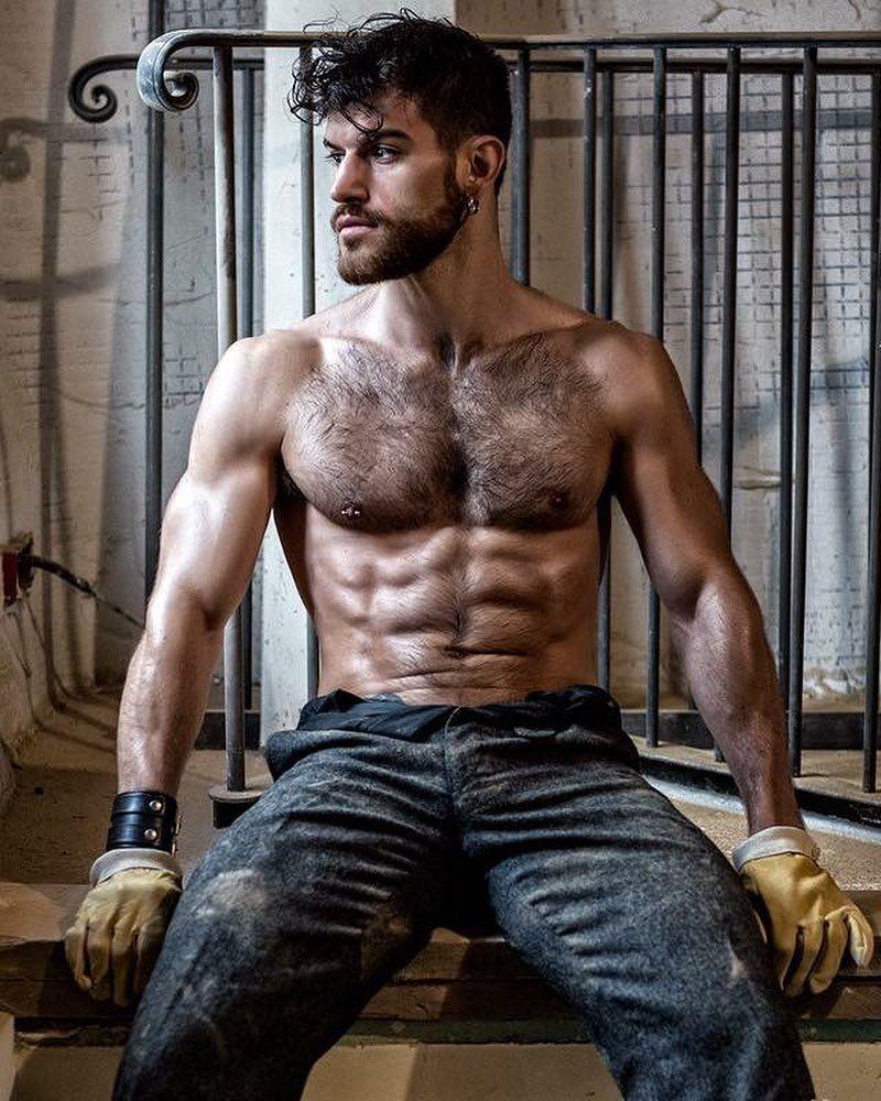 Matthieu Reboul  Male Models Ii  Hairy Men, Muscle Men -1478