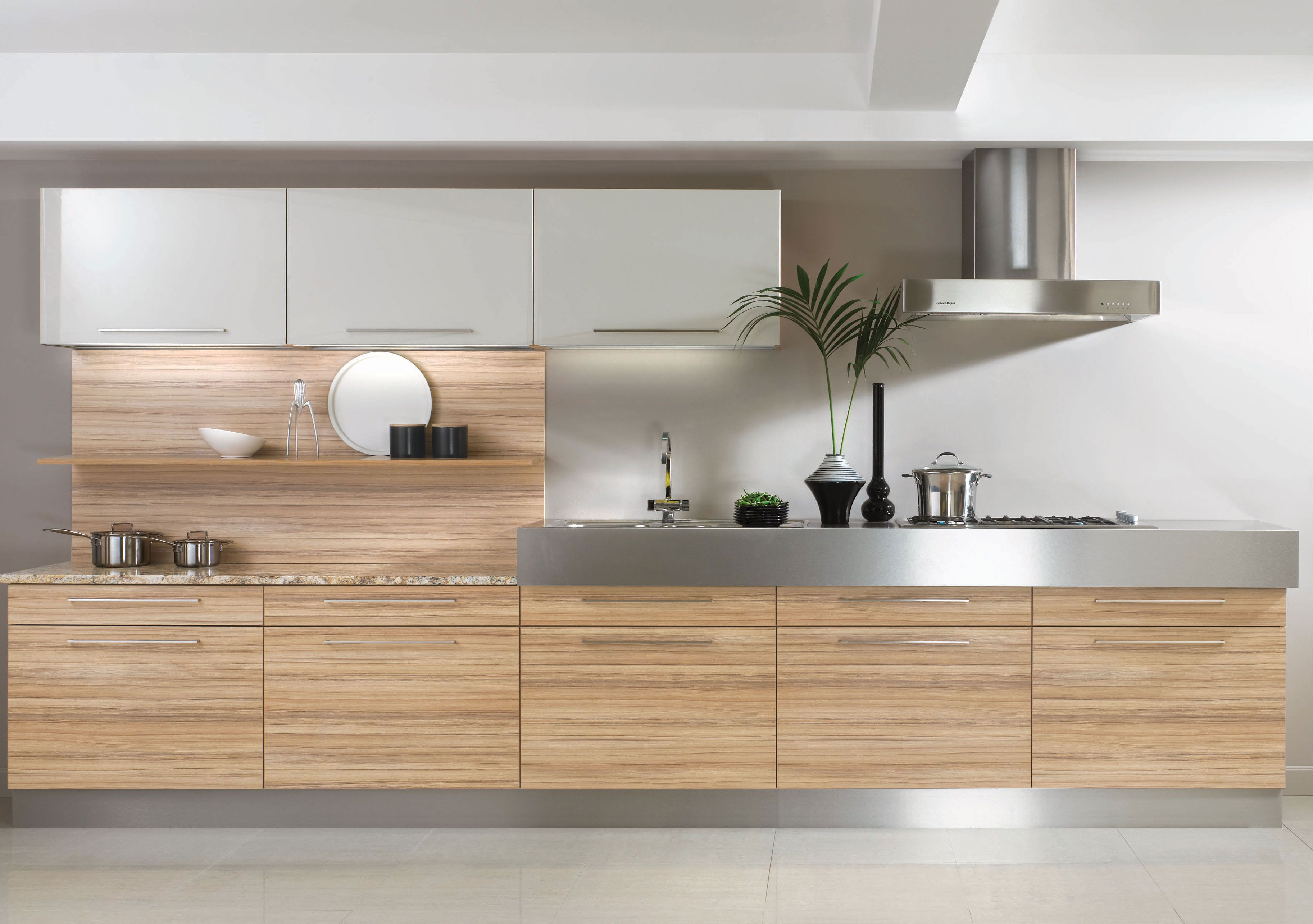 Coco Bolo Kitchen Units Combined With Stainless Steel Worktops For A Modern But Very Practical Ki Free Kitchen Design Kitchen Inspiration Modern Kitchen Design