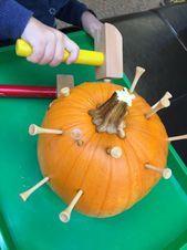 Pumpkin Crafts and Activities For 3 year olds #fallactivitiesforkids pumpkin pou…,  #activi…