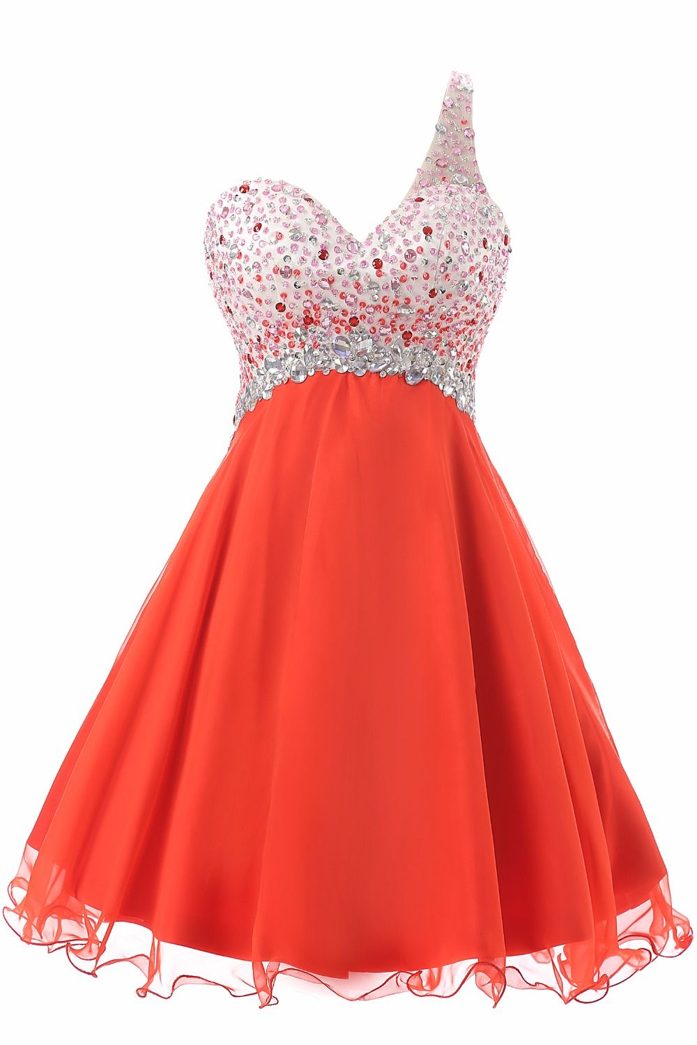 Sexy dresses with crystal women evening dresse short ball gown