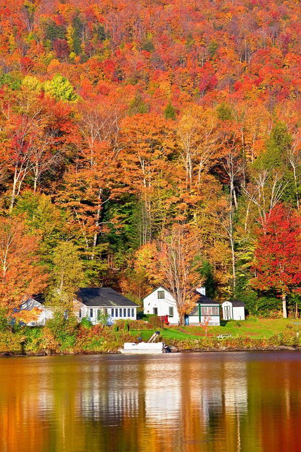 Burke Vt Fall Wallpaper Vermont Fall Colors Vermont Stowe Lake Elmore Foliage