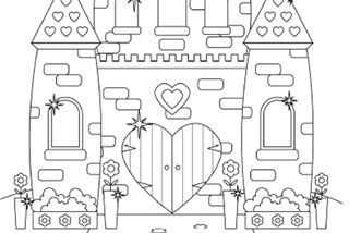 Princess Castle Colouring Page Castle Coloring Page Princess
