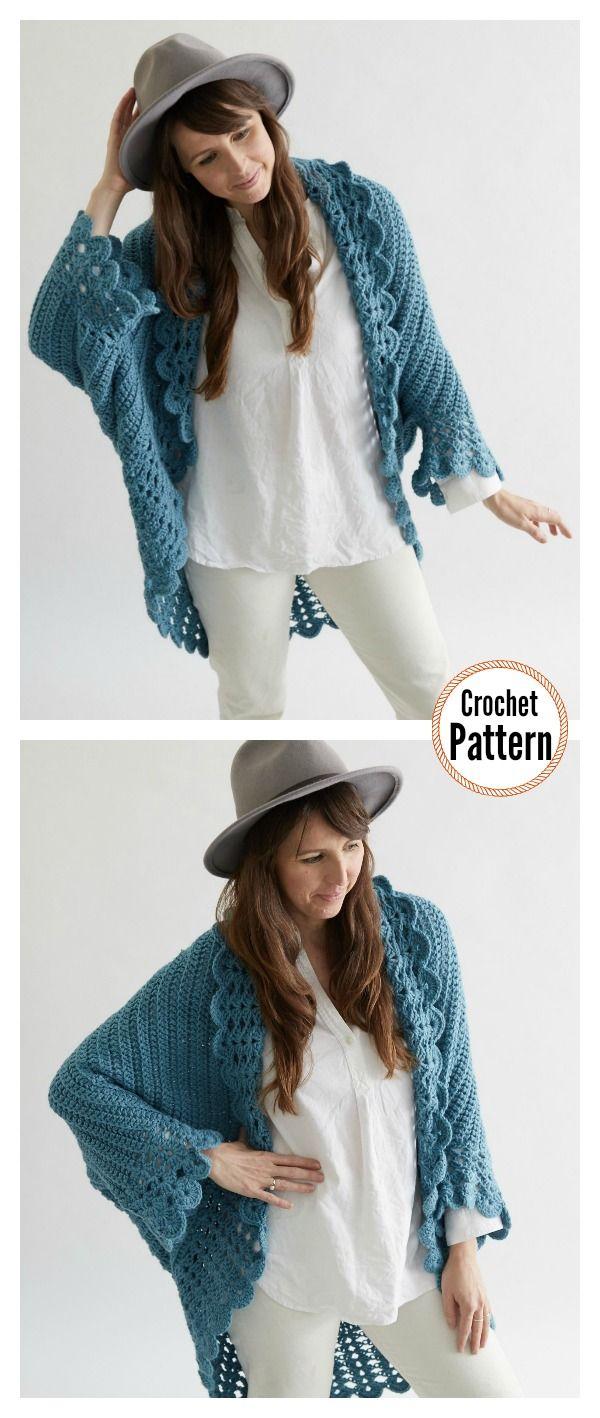 Shell Edged Blanket Sweater Crochet Pattern   Crochet & Knitting ...